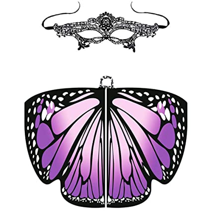 bello economico cerca l'autorizzazione prezzo abbordabile Womdee Farfalla Scialle, Butterfly Wings Scialle con Pizzo ...