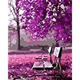 New arrival DIY Oil Painting by Numbers Kit Theme PBN Kit for Adults Girls Kids White Christmas Decor Decorations Gifts - Waiting for romance (D152)