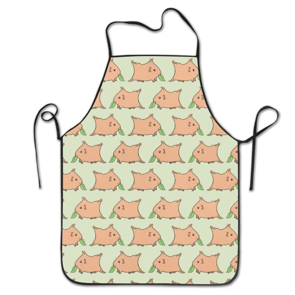 料理人エプロンGuinea Pigs Eating Grassキッチンエプロン面白い料理エプロン   B079L7J23F