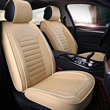 VW Touareg Full Set of Luxury BEIGE Leather Look Car Seat Covers