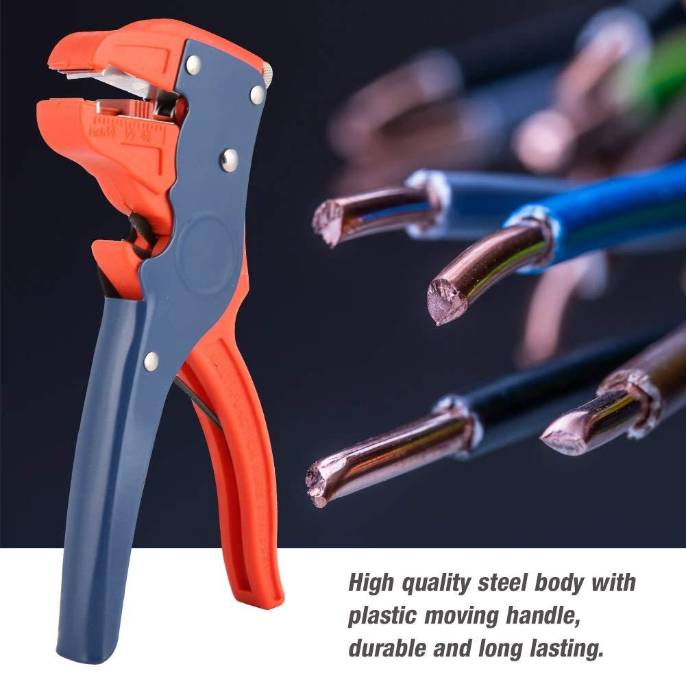 Herramienta para Pelar Cables El/éctricos para Reparaciones Electr/ónicas y Automotrices Pelacables Autom/áticos Pelacables con Aislamiento Autoajustable
