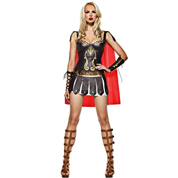 30b69166e Sexy Ladies Warrior Greek Roman Goddess Gladiator Princess Womens Spartan Fancy  Dress Costume (Women