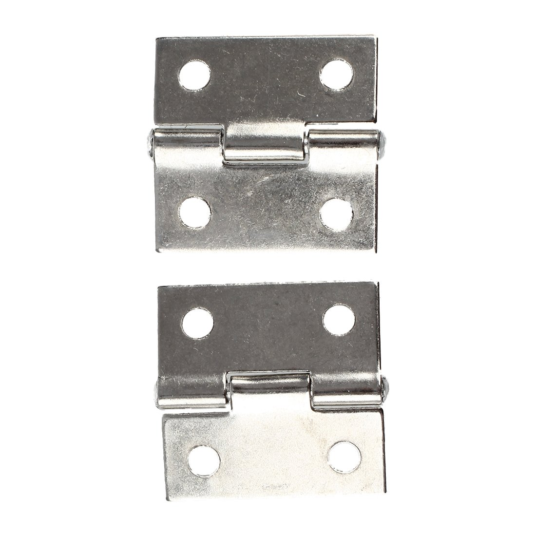 TOOGOO(R) 2 Pcs Gray Metal 1'' Small Butt Hinge for Cabinet Drawer