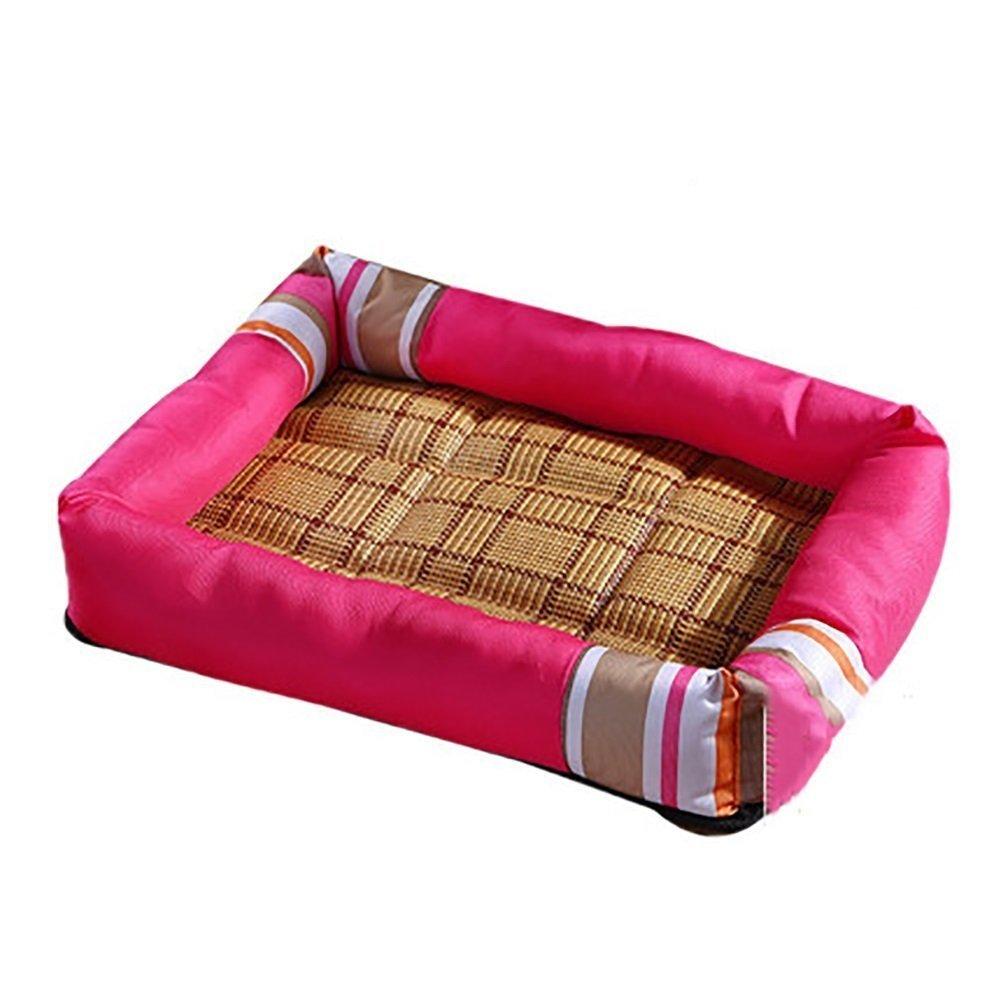 migliore marca Sun Glower Coperta Coperta Coperta delle forniture dell'animale Materassino estivo fresco Canile Letto per gatti Lettiere per cani (colore  rosa, Taglia  S)  ampia selezione