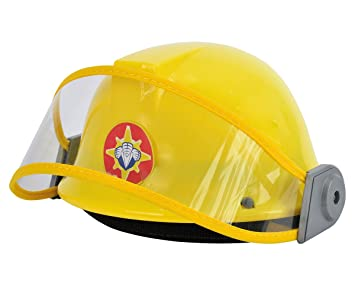 dickie 109250741 fireman sam kids firefighter helmet amazon co