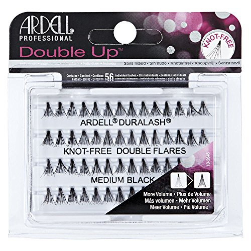 Ardell Double Up Individual Eyelashes Knot Free Naturals Medium Black (12 Pack)