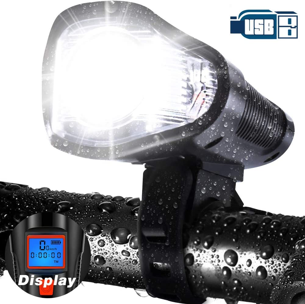 Bike Bicycle Light Universal Front Head Light Cycling Lamp Electronic Bell Horn