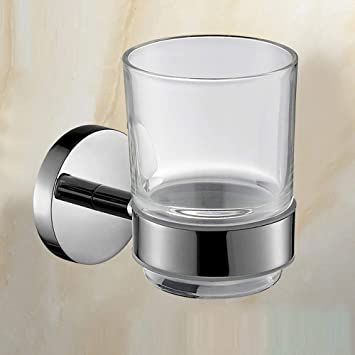 xy Soporte de Vaso de Cepillo de Dientes del Vidrio y del Soporte del Acero Inoxidable