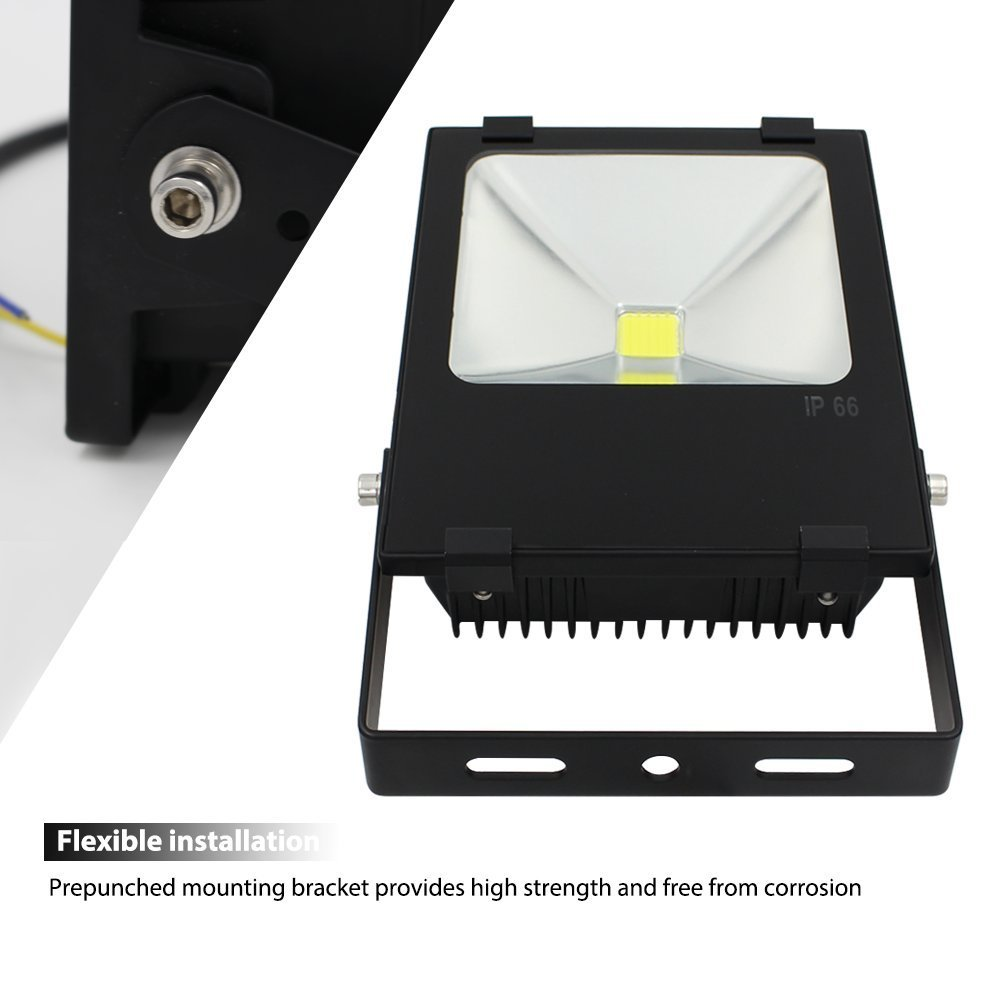 10W Outdoor LED Flood Light - AC85-265V Waterproof Daylight COB LED ...
