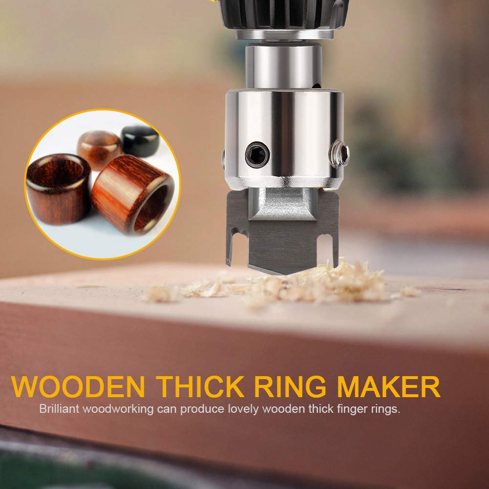 wang JESS Wooden Thick Ring Maker Speed Steel Drill Ring Drill Wood Tools Household Garden Tools for Making Personalized Wooden Rings and Jewelry