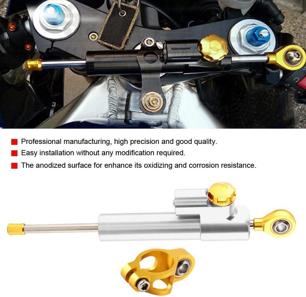 Aramox Amortisseur de direction or contr/ôle universel de s/écurit/é de stabilisateur dalliage daluminium de guidon universel de moto