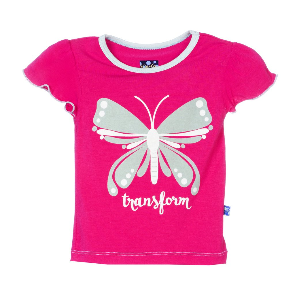 Kickee Pants Little Girls Short Sleeve Puff Tee
