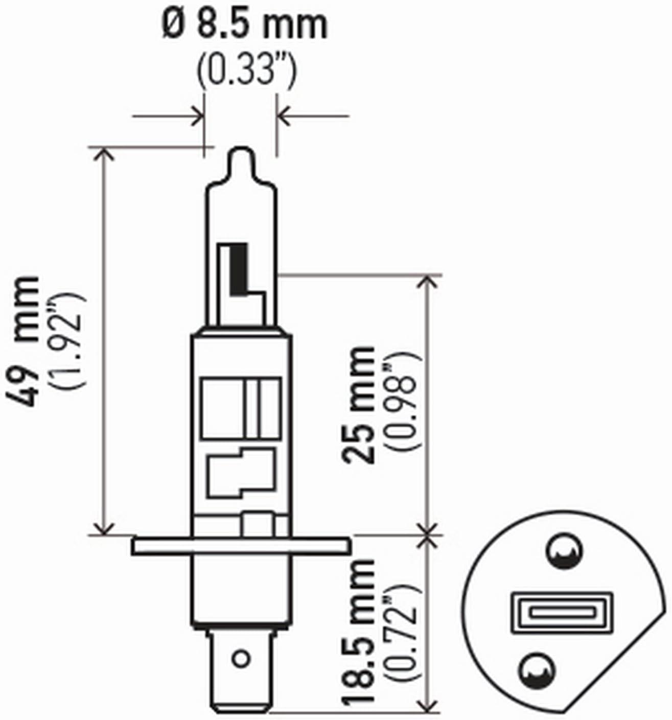 HELLA H71071242 Optilux XB Series H1 Xenon White Halogen Bulbs 2 Pack 12V 55W