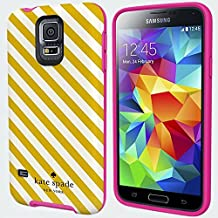 Kate Spade Diagonal Stripe Gold Cream Samsung Galaxy S5