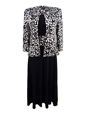 8bacd0df3dab3 Amazon.com: Jessica Howard Women's Petite Leaf-Print Jacket & A-Line ...