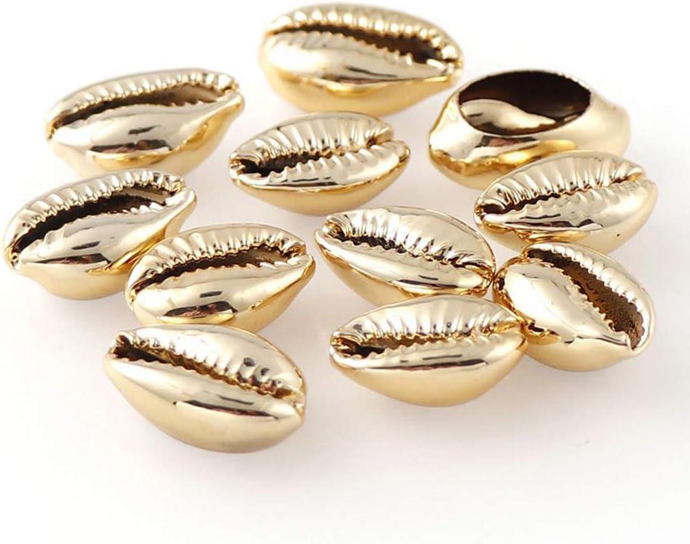 Baoblaze 20x Perle de Coquille Perles Coquillage pour DIY Fabrication de Bijoux D/écoration Argent