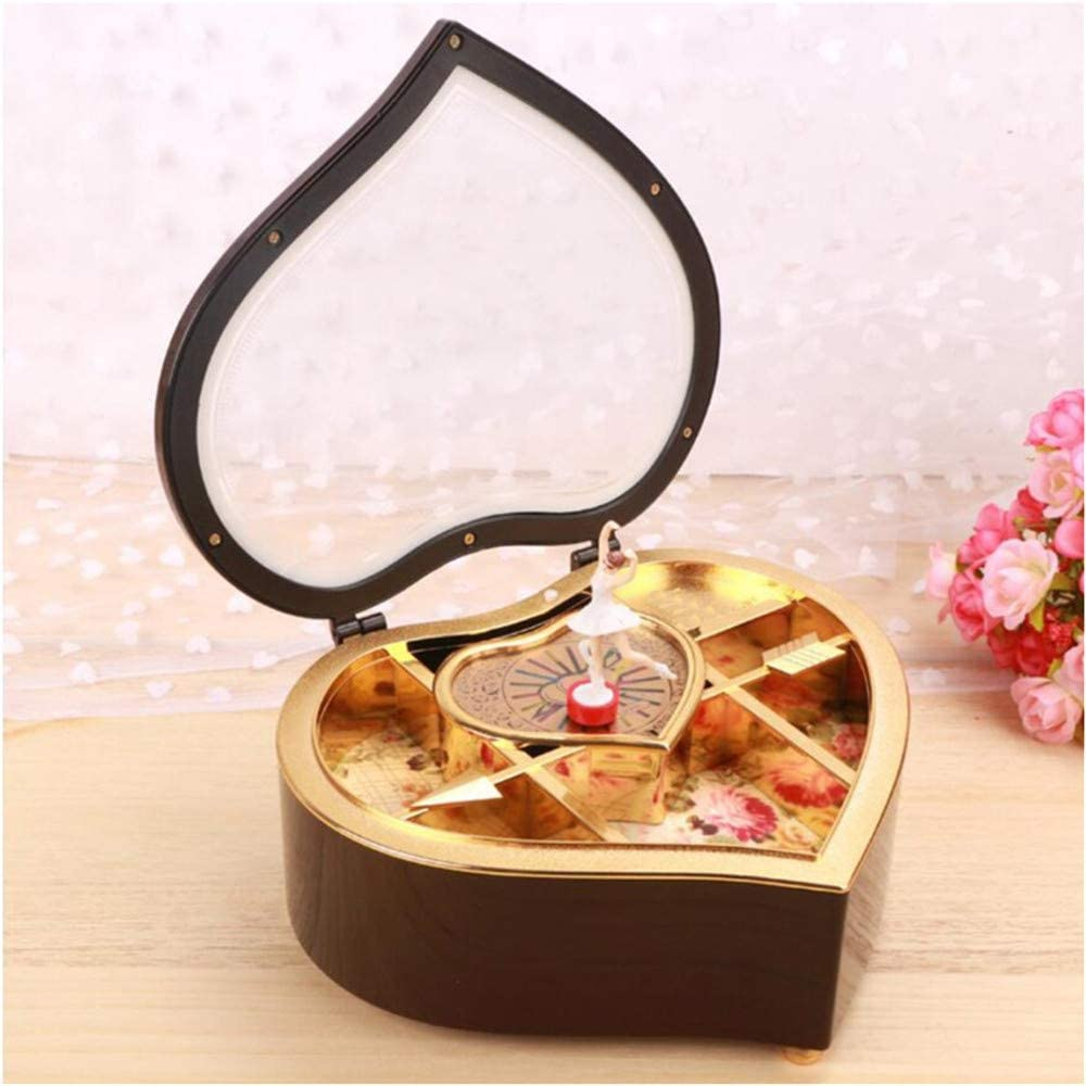SHUIHU Black Music Box Eight Music Box Spinning Dancing Creative ...