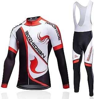 GUIGUI Maglia da Ciclismo,Maschio Donna Protezione Solare Manica Lunga Pantaloni con Gilet Abbigliamento Moto Abbigliamento da Bicicletta Abiti da Esterno