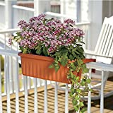 "24"" Adjustable Railing Planter Box-Set of 2"