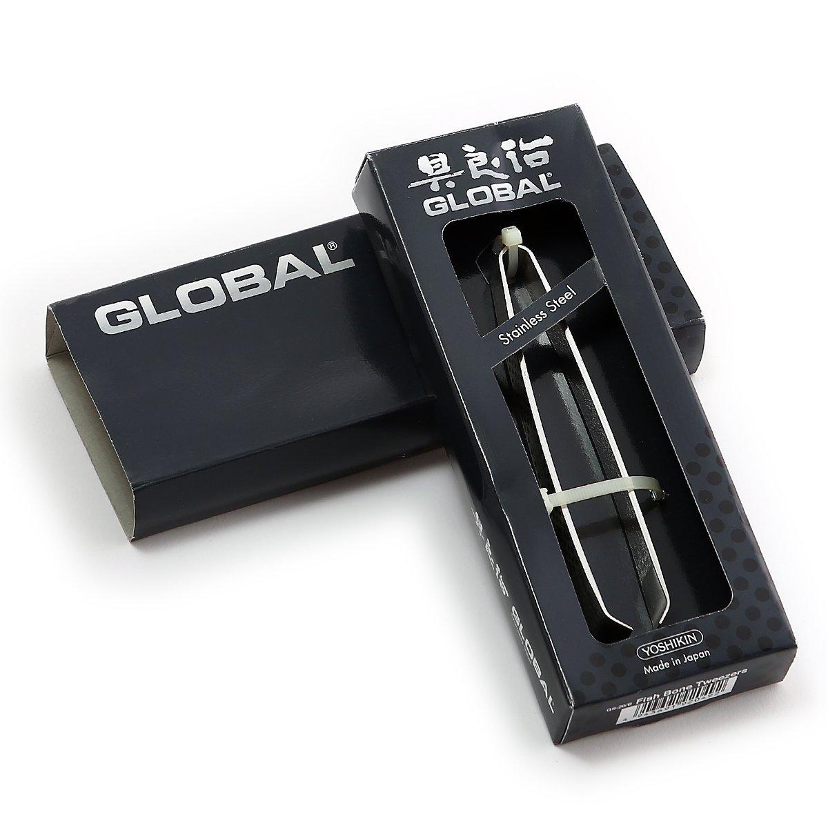 4 1//2 inch Fish Bone Tweezers with Dots Global GS-20//B
