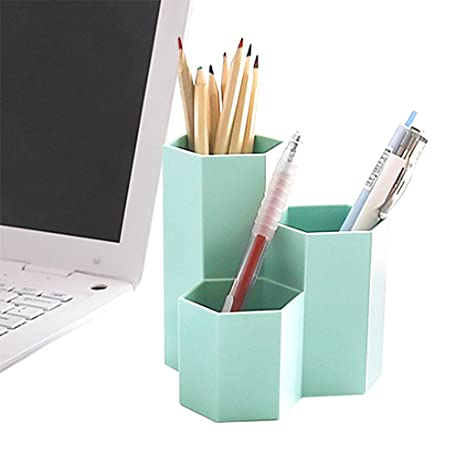 Swell 3 Slot Desk Pencil Holder Stand Pen Display Cup Case Box Stationery Organizer Container Storage Caddy Office Supplies Workspace Accessories Sorter Home Interior And Landscaping Oversignezvosmurscom