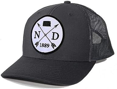 Homeland Tees Mens North Dakota Flag Patch Trucker Hat
