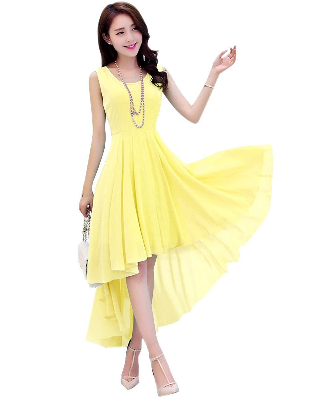 Daffodil Dasior Women's ALine Asymmetric High Low Summer Beach Holiday Party Dress