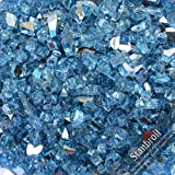 Stanbroil 10-Pound Reflective Fireplace Glass and Fire Pit Glass, Pacific Blue, 1/4-Inch