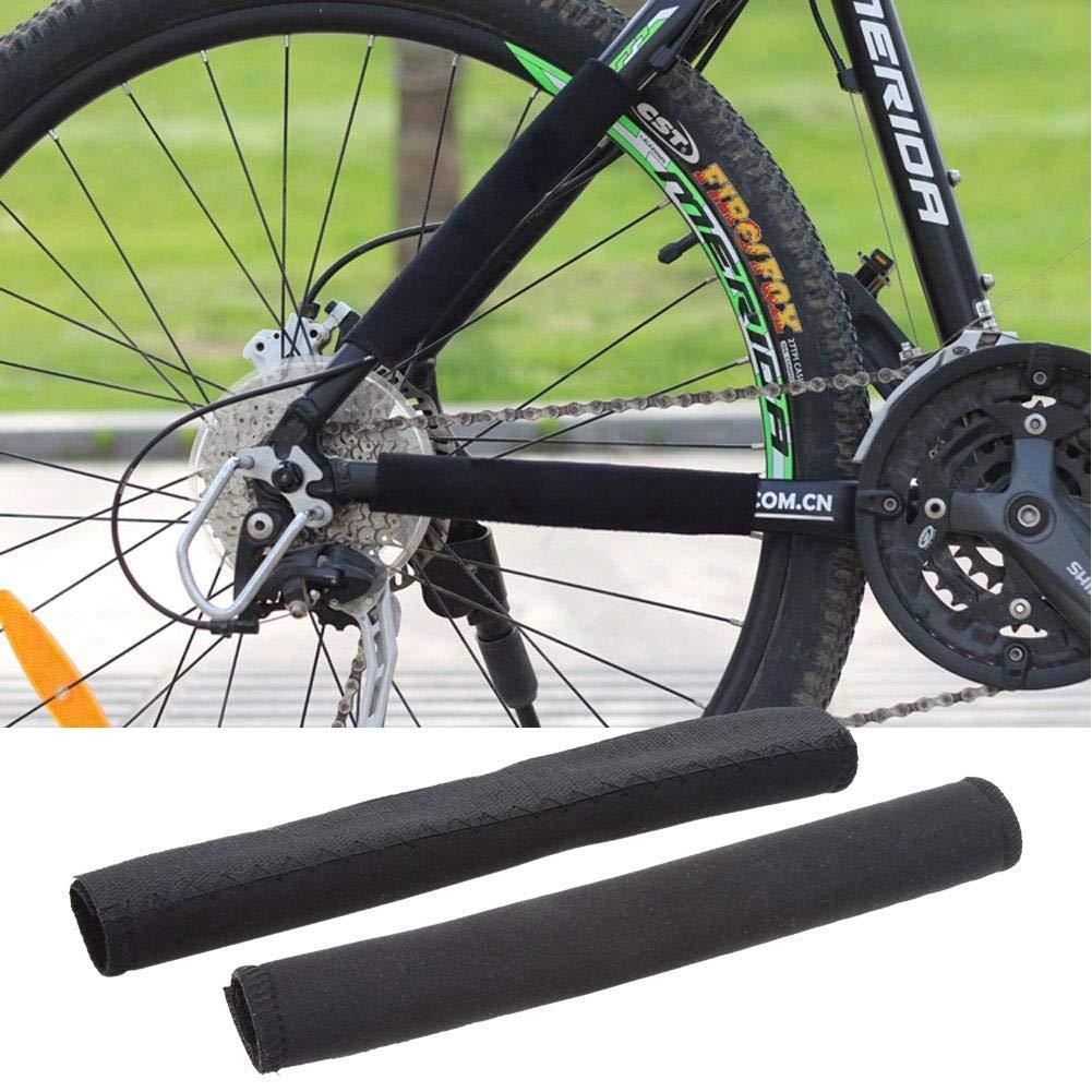 Forfar Moto protector de cadena La bicicleta de ciclo al aire libre bici bicicleta almohadilla protectora vaina neopreno Negro