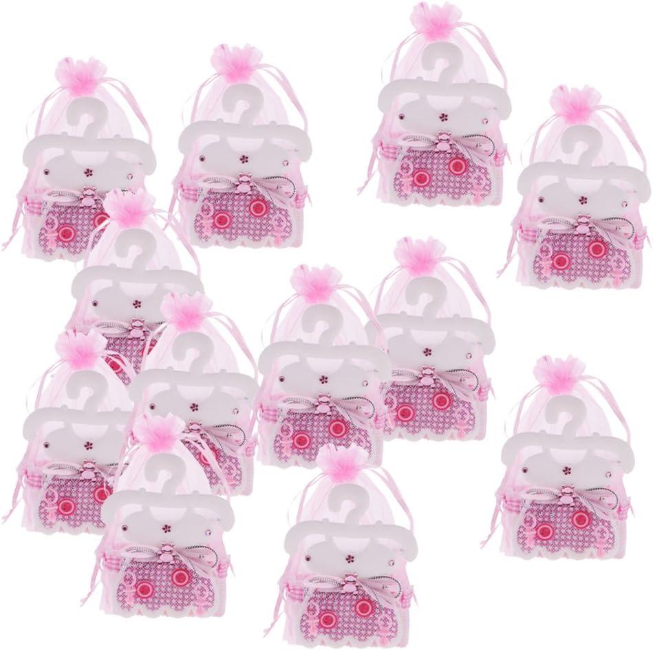 gazechimp 12pcs Pochette tul caja de caramelos gominolas diseño ropa bebé para baby shower: Amazon.es: Hogar