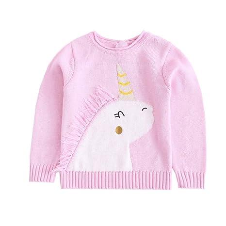 6d90828217b47 Garçon fille dessin animé chandail licorne pull enfant pull en tricot sweat  enfants chandail adapté pour