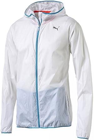 9634e5f2a362 Puma Ligtweight Mens Hooded Running Jacket - White-XL  Amazon.co.uk ...