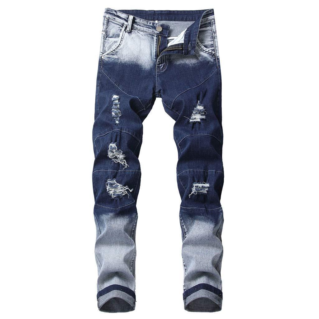 Hahashop2 - Pantalones vaqueros para hombre, ajustados y ...