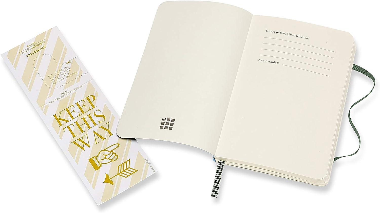 240 Pagine Formato Large 13 x 21 cm Copertina Morbida e Chiusura ad Elastico Moleskine Classic Notebook Taccuino con Pagine Bianche Colore Verde Limone