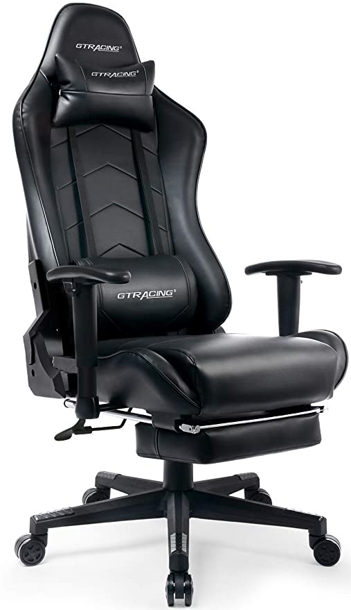 Brilliant Gtracing Gaming Chair Heavy Duty Office Chair With Footrest Ibusinesslaw Wood Chair Design Ideas Ibusinesslaworg