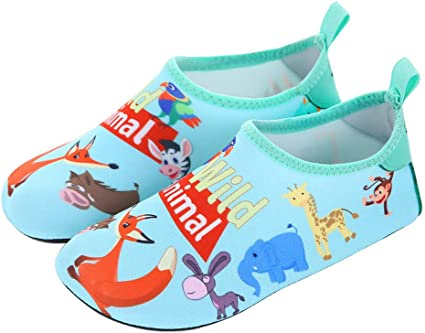 MCERMR Kids Water Shoes Toddler Swim Shoes Boys Girls Barefoot Aqua Socks for Beach Pool