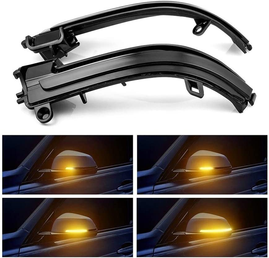 AN Claral LED Side Wing Rearview Mirror Indicator Blinker Repeater Dynamic Turn Signal Light Fit For BMW F20 F21 F22 F30 E84 1 2 3 4 Series