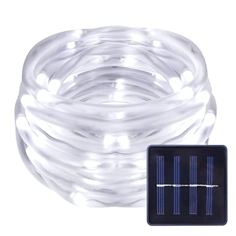 Le 50 leds solar rope lights 5m waterproof outdoor path lights le 50 leds solar rope lights 5m waterproof outdoor path lights daylight white mozeypictures Choice Image