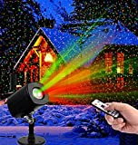 Christmas LED Projector Light Star Laser Landscape Projector Light Waterproof Outdoor Garden Spotlight for Christmas Party Disco Wedding Birthday Decoration