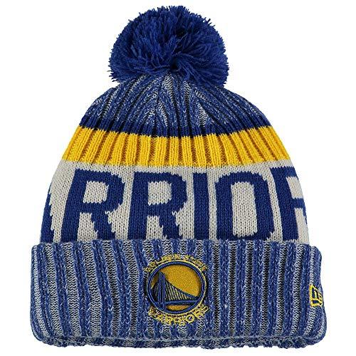 e1a31e3d3e9 New Era Golden State Warriors On-Field Sport Pom Knit Hat Cap