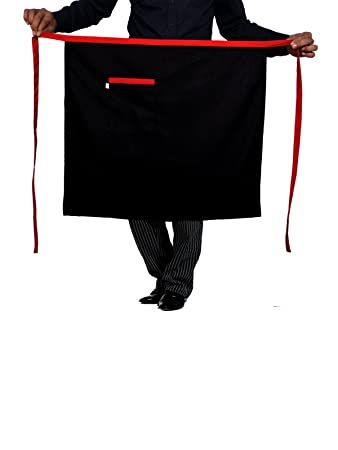 Switchon New Design Waist Apron Free Size,Black,26 Inch,Polyester