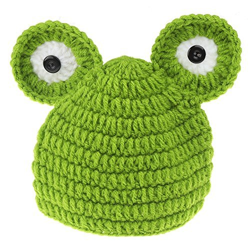 [Jubileens Baby Photography Prop Animal Frog Prince Knitted Crochet Costume Hat Caps] (Frog Prince Baby Costumes)