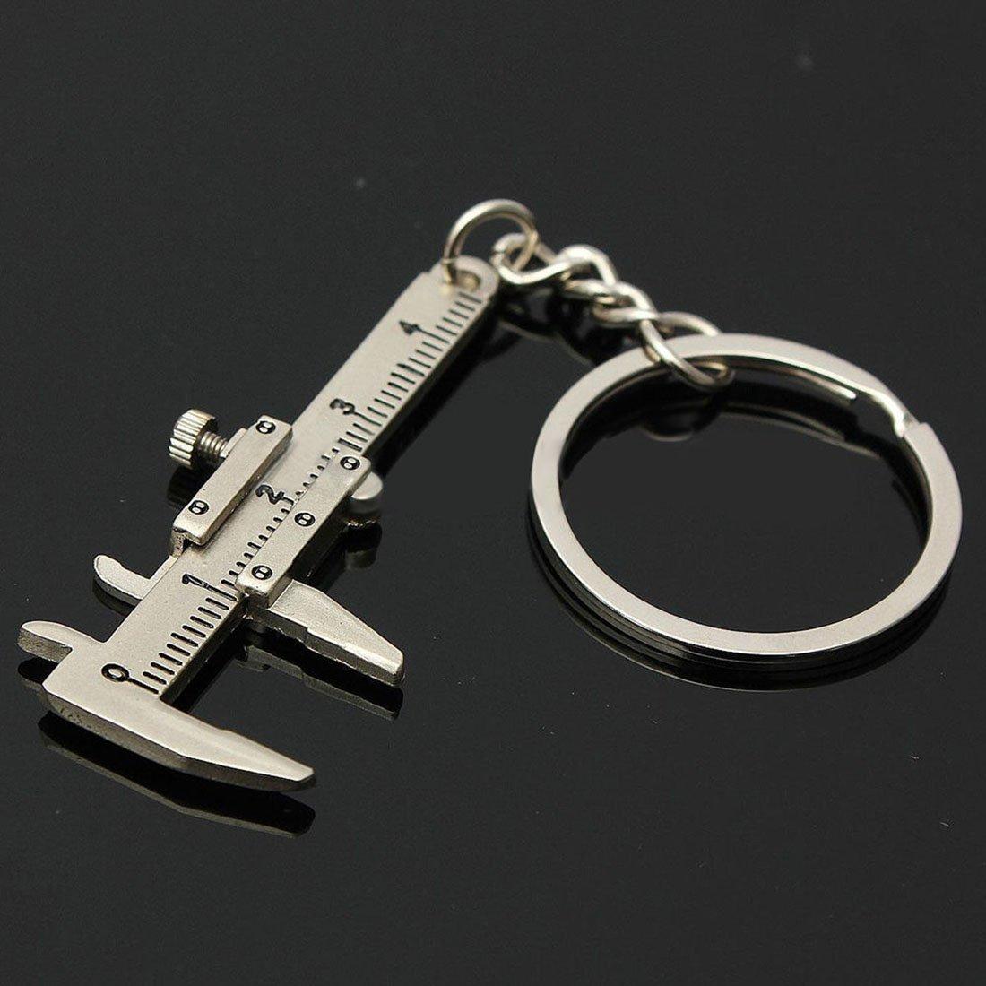 Nrpfell Useful Mini Vernier Caliper Tool Pendant Slider Slides Keyring Key Chain 10CM by Nrpfell (Image #6)