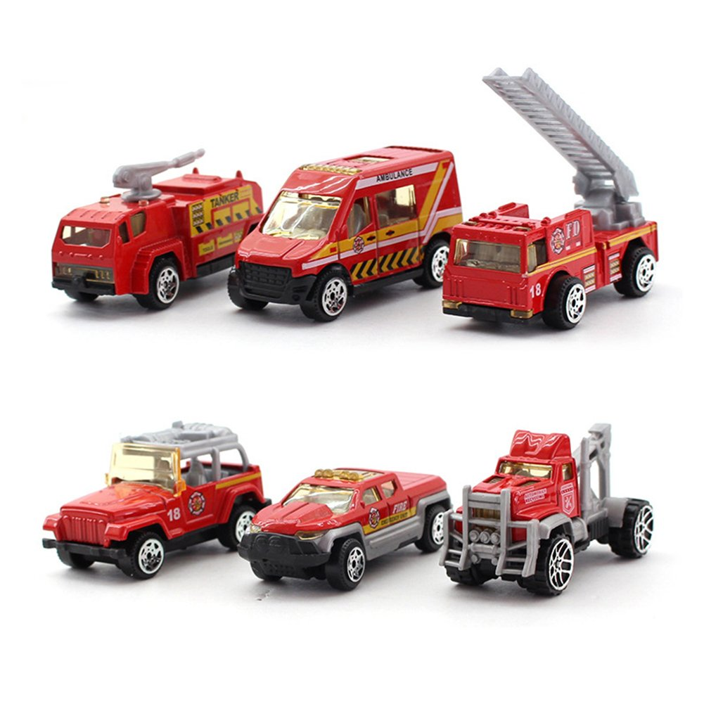 Qiyun Toy Cars 8pcs Children Alloy Simulation Cars Mini Fire Engines Metal Vehicles Toys Gifts for Kidsstyle:Fire series