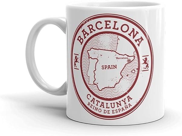 DV Mugs Ltd Barcelona Catalunya España - Taza de café (284 ml), diseño de Barcelona Catalunya: Amazon.es: Hogar