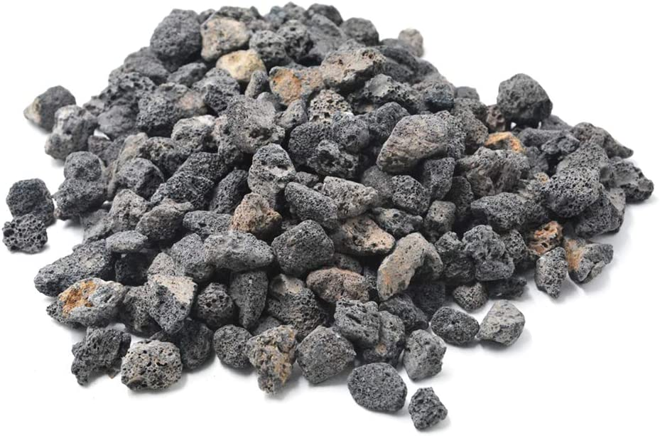 Stanbroil 10 Pounds Lava Rock Granules for Fire Bowls,Fire Pits,Gas Log Sets, and Indoor or Outdoor Fireplaces - Medium (1/2