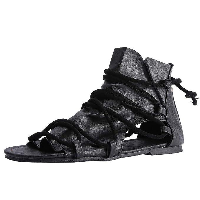 Zapatos de Mujer, ASHOP Casual Planos Loafers Mocasines de Puntera otoño Invierno Botas de para Mujer Sandalias Planas con Cremallera Cruzadas Sandalias ...