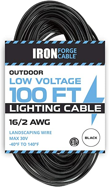 16 2 Low Voltage Landscape Wire 100ft Outdoor Low Voltage Cable For Landscape Lighting Black Landscape Lighting Amazon Canada