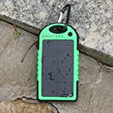 Solar Phone Charger - Borch Solar Portable Phone Battery Charger 5000mah Power Bank and Travel Charger. Utilizing Both Solar And/or Electrical Energy to Fully Charge Wireless Devices on the Go. Shockproof, Dustproof & Rainproof Provides the Freedom to Travel Anywhere with the Borch Solar Power Charger. External Battery Pack Compatible with Iphone 6 5.5 4.7 Inch 5s 5c 5 4s 4, Ipad Air, Other Ipads, Ipods(apple Adapters Not Included), Samsung Galaxy S5, S4, S3, Note 3, Note 4 Galaxy Tab 3, 2, Nexus 4, 5, 7, 10, HTC One, One 2 HTC One M8 ,Motorola Atrix, Droid , Lg Optimus, Most Kinds of Android Smart Phones and Tablets,windows Phone, Gopro Camera and More Other Kindle, Nook, and All Standard USB 5v/1a Devices. (Green)