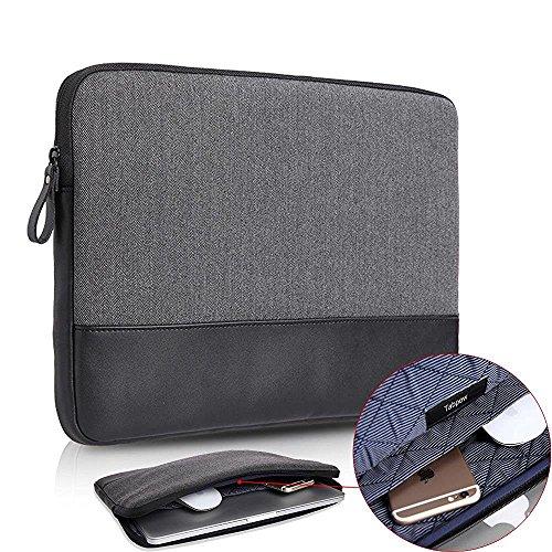 Laptop Bag, TabPow Canvas Herringbone Black Grey Series - Un